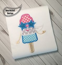 FREE! Popsicle Sunglasses Applique - 3 Sizes! | What's New | Machine Embroidery Designs | SWAKembroidery.com Beau Mitchell Boutique