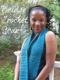 Bridge Crochet Scarf - Free Pattern | Yarn by Yarn Obsession ༺✿ƬⱤღ https://www.pinterest.com/teretegui/✿༻