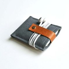 wool and leather ipod case (made in Minnesota)