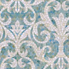 "Name: Serena Style: Classic Product Number: CB1222SERENA (19""x19"") Description: Serena jewel glass mosaic in Aquamarine and Quartz."