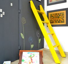 Chalkboard Paint Wall, for the Playroom.
