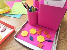Differentiating stations by color with Astrobrights by A Modern Teacher - teacher DIY