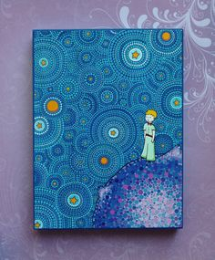 The Cosmic Little Prince Wood Block Print Art by ElspethMcLean, $18.00