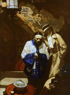 """According to the article on Mead Schaeffer in issue No. 45 of Illustration magazine , he was quoted as saying in """"I lo. Traditional Paintings, Traditional Art, Illustrations, Illustration Art, Painting Inspiration, Art Inspo, Frederic Remington, Classic Paintings, Wow Art"""