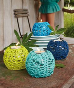 Crochet candleholders. Doing this is as soon as I get some baby blankets done!