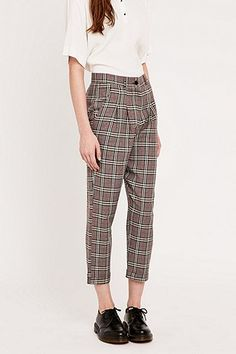 Urban Renewal Vintage Remnants Plaid Trousers - Urban Outfitters