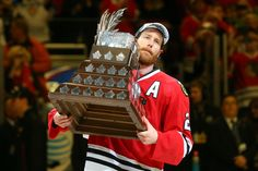 Duncan Keith hoists the Conn Smythe Trophy! #2015 #StanleyCup