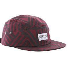 The Quiet Life Painted Lines Five Panel Cap - Maroon black Five Panel Hat 0968f5cf6e0