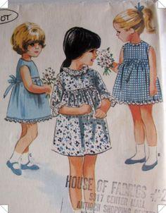 Vintage 1960s McCalls 8195 Helen Lee Girls Dress Pattern. $8.99, via Etsy.