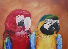 Macaws - acrylics