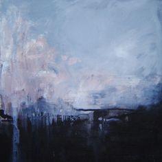 """""""Kveikur"""", 2014. Oil on canvas, 69x69. Painting inspired by Sigur Rós' album """"Kveikur"""""""
