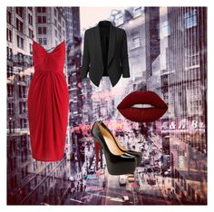 """""""sity style"""" by siesta451 ❤ liked on Polyvore featuring Zimmermann, Christian Louboutin, LE3NO and Lime Crime"""