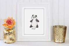 A personal favorite from my Etsy shop https://www.etsy.com/listing/231512100/sup-print-panda-art-print-black-and