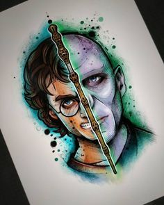 Harry Potter VS Lord Voldemort Tattoo design I grouped the aforementioned questions concerning the pencil drawing that I received and … Tattoo Designs, Sketch Tattoo Design, Tattoo Sketches, Art Sketches, Images Harry Potter, Harry Potter Art, Disney Drawings, Cartoon Drawings, Harry Potter Stencils