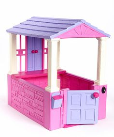 Savannah Look what I found on #zulily! Pink My First Playhouse by American Plastic Toys #zulilyfinds