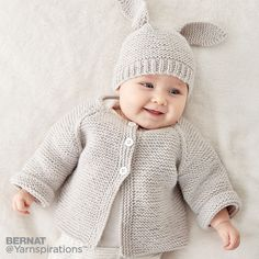 Knit Baby Jacket Set| Knit | Charity | Let's Make a Difference | Free Pattern | Yarnspirations
