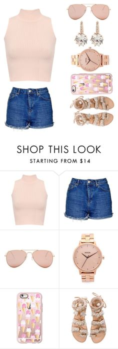 """""""pink"""" by claribelelarkins ❤ liked on Polyvore featuring WearAll, Topshop, Betsey Johnson, Nixon, Casetify and Elina Linardaki"""