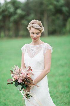 My Romance silk satin ivory wedding gown by JenniferGoBridal