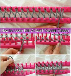 How to Loom Knit Scarf Tutorial (Video)