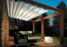 Landscaping And Outdoor Building , Clever Modern Pergola Designs : Attached Modern Pergola Designs With Canopy