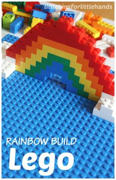 Fun Lego play ideas for Lego week or anytime! Homemade Lego play ideas are great for all ages. Legos have so many benefits for kids. Try a new play idea! Rainbow Activities, Early Learning Activities, Rainbow Crafts, Kids Learning Activities, Minecraft Lego, Minecraft Ideas, Van Lego, Lego Challenge, Lego Club