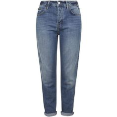 TOPSHOP PETITE Dirty Hayden Jeans (2.205 UYU) ❤ liked on Polyvore featuring jeans, mid stone, petite, petite jeans, topshop jeans, topshop, boyfriend jeans and blue jeans