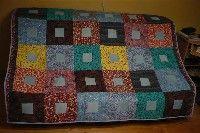 foltvarrás, patchwork, takaró