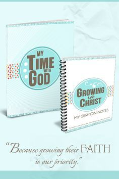 With 66% of teens walking away from the church... growing the faith of our children is our top priority. In this noisy world that is going to take intentional planning! These FREE discipleship tools can help. The Sermon Notebook for Kids will guide them to listen and focus at church and the Quiet Time Journal will help them dig deeper into God's Word. FREE printables!
