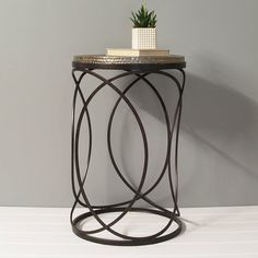 Are you interested in our round metal side table? With our round metal occasional table you need look no further. Round Metal Side Table, Metal Table Frame, Tall Side Table, Metal Working, Interior Decorating, Decorating Ideas, Decoration, Unique Coffee Table, Coffee Tables