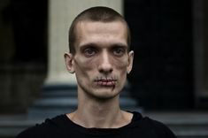 Pyotr Pavlensky sewed his lips shut in protest at the prosecution of Pussy Riot in the summer of 2012 Photo: courtesy of Petr Pavlensky via The Quietus
