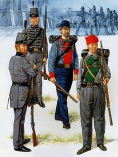 """Virginia Volunteer Infantry, 1861-62""  • Warrenton Rifles - Co K, 17th VA Inf  • Warrenton Rifles - Co K, 17th VA Inf  • Lynchburg Home Guard - Co G, 11th VA Inf  • Beauregard Rifles - The Zouaves"