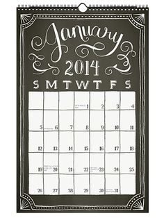 Dress up an empty wall in the kitchen or office with Paper Source's chalkboard wall grid calendar. #GoodHousekeeping #GiftIdeas