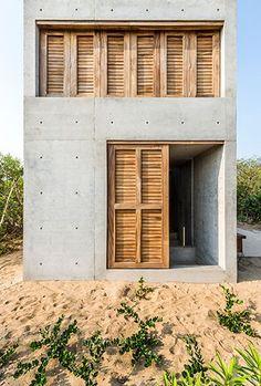 casa-tiny-mexique-puerto-escondido-casa-wabi | A Guest, a Caravan, Perry Winkle Blue | Pinterest | Architecture, Wood Architecture and Concrete Houses