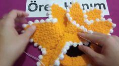 üç boyutlu ayçiçeği lif yapımı Crochet Stitches, Knit Crochet, Weaving Patterns, Crochet Videos, Crochet Necklace, Knitting, Projects, Stuff To Buy, Pretty