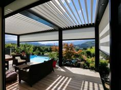 The wooden pergola is a good solution to add beauty to your garden. If you are not ready to spend thousands of dollars for building a cozy pergola then you may devise new strategies of trying out something different so that you can re Rooftop Design, Pergola Designs, Deck With Pergola, Pergola Lighting