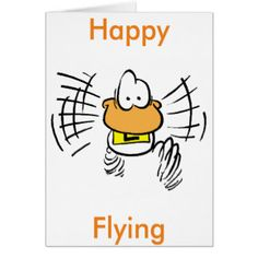 Ding Duck happy flying greeting card. #zazzlecards #zazzleproducts #cartooncards