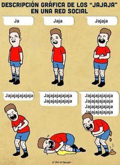 """Descripción gráfica de los """"JAJAJA"""". #humor #risa #graciosas #chistosas #divertidas"""