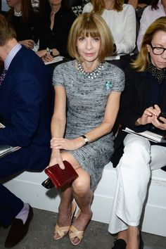 Anna-Wintour-Chanel-Spring-2014-Front-Row  #fashionweek