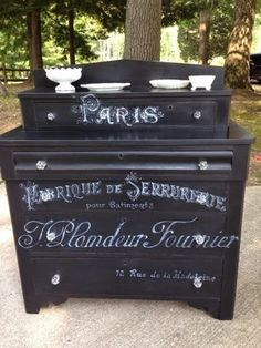 My 2014 Favorite Painted Pieces! 5. Chic & Shabby Dresser with Mirror 4. Chic & Shabby French Typography Commode 3. Shabby Small Dresser ...