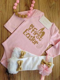 My First Easter Outfit | 1st Easter Outfit | First Easter Onesie for Baby Girls