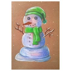 A little Christmas spirit #snow #snowman #drawing #pencil #colorpencil #Christmas #artist #art #fabercastell #hat #scarf #Schal #Hut #Weihnacht #Schnee #Schneemann #Bleistift #farbstifte #SMLT #Papier #smltart #paper @art_loveur