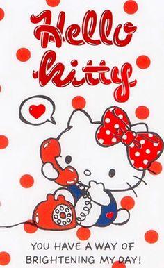 #HelloKitty -- love hearing your voice!! ♪(´ε` )