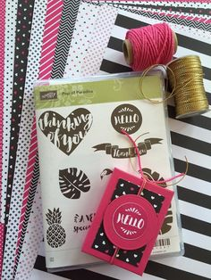 Cute little treat box uing Pop of Pink by Stampin' Up, great video tutorial.