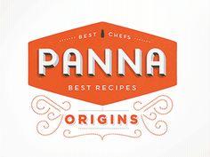 Panna app logo designed by kellianderson. Italian Logo, Inspiration Logo Design, Logo Word, Retro Logos, Vintage Logos, Vintage Lettering, Branding, Brand Identity, Logo Restaurant