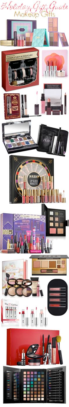 Holiday Gift Guide: Makeup Gifts for Women including bare Minerals, Laura Mercier, Tarte Cosmetics, Laura Geller, BUXOM, Urban Decay, LORAC, MAC Cosmetics, Prescriptives and more.