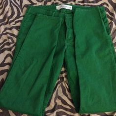 Abercrombie & Fitch green skinny jeans Green A&F skinny jeans size 29 (8) bought for my daughter at consignment shop but they don't fit her. Abercrombie & Fitch Jeans Skinny