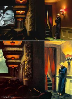 above left: original paintings by Edward Hopper and above right, the set designs for Shirley – Visions of Reality. Director Gustav Deutsch brings 13 Hopper paintings to life in his film, Shir… Marc Chagall, Edgar Degas, Gustav Klimt, Rembrandt, Vincent Van Gogh, Shutter Island, Anselm Kiefer, Andrew Wyeth, Shirley Visions Of Reality