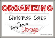 What to do with Christmas cards?