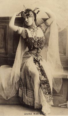 Louise Mante in Art Nouveau Costume, circa 1900