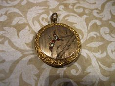 Antique Edwardian Gold Filled Mourning Locket w by charmingellie
